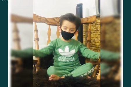 پویش مردمی کوار من ماسک میزنم شرکت کننده:پوریا لطفیان از اکبرآباد